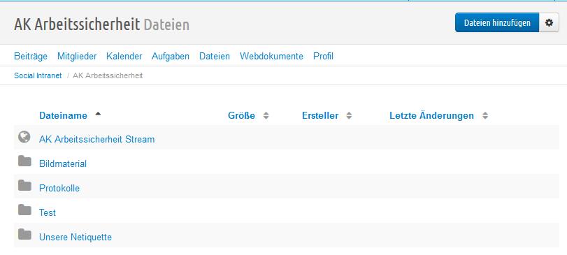 Dateimodul Gruppe